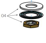 spom22 e001 hotbath fonteinkraan bevestiging set