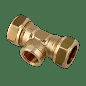 "T-koppeling knel 22x1/2""bn.x22mm k/g Bonfix"
